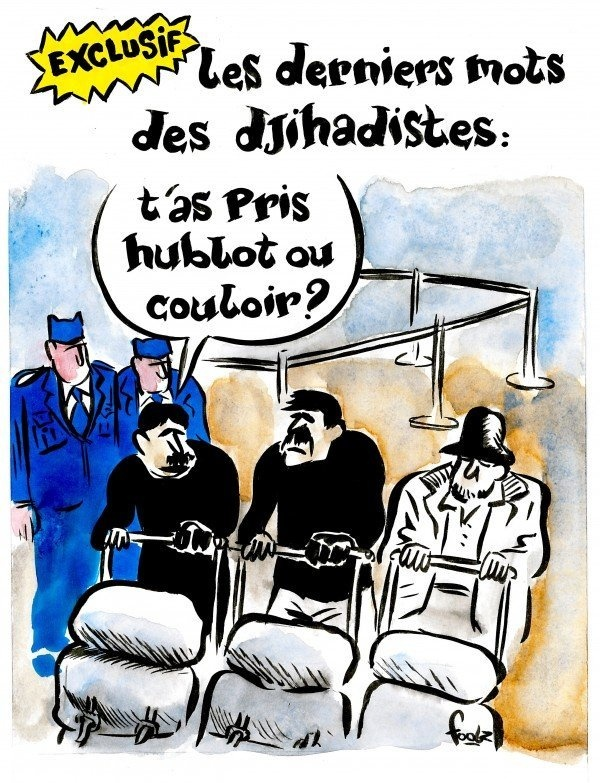 Карикатура Charlie Hebdo на теракт в Брюсселе.