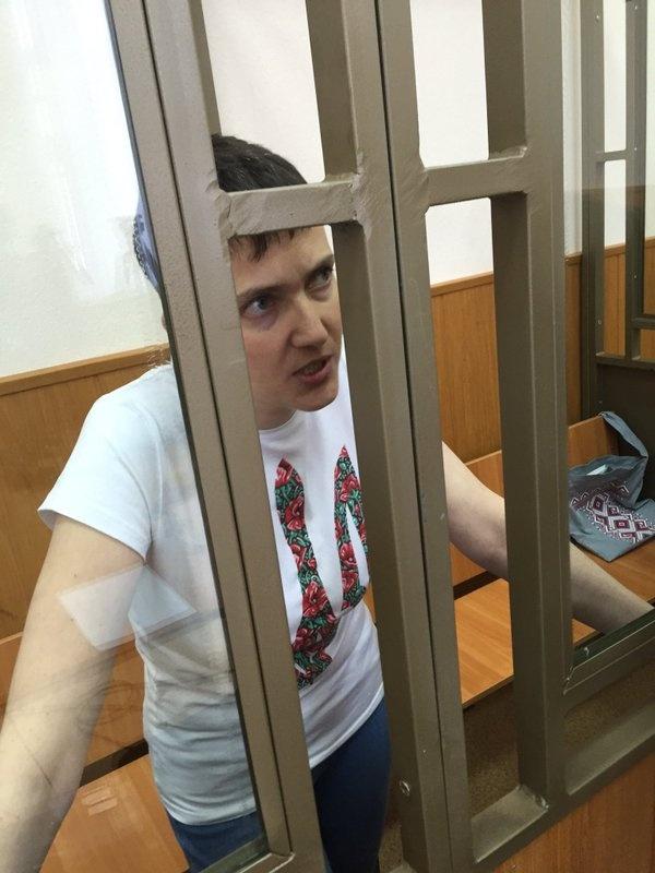Савченко 9 марта 2016 года, на шестой день сухой голодовки.