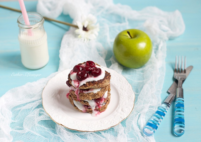Яблочные панкейки рецепт с фото