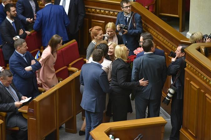 Цветы и поздравления Ирине Геращенко.