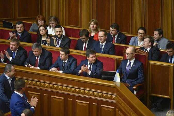Утром 14 апреля правительство Яценюка последний раз находилось в ложе Рады.