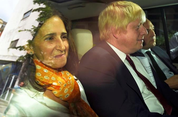 Борис Джонсон с женой.