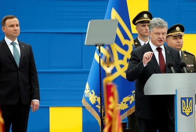 Президент Польши Анджей Дуда был единственным иностранным лидером на параде.