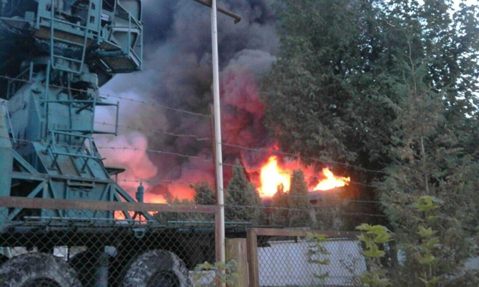 Пожар в центре Львова был виден даже на окраинах.