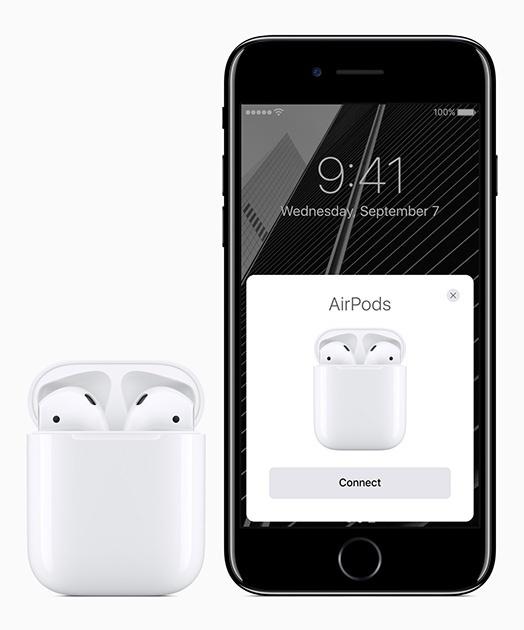 У iPhone 7 - беспроводные наушники.