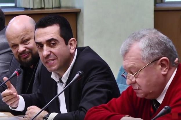 На фото: бизнес на троих: Овчинников, Мерхеж и Марченко
