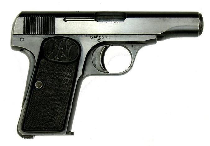 FN модели 1910 года — один из самых распространённых браунингов.