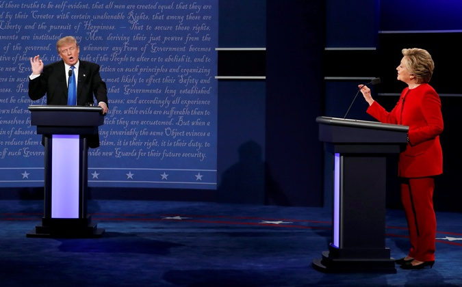 Трамп неверит впобеду Клинтон