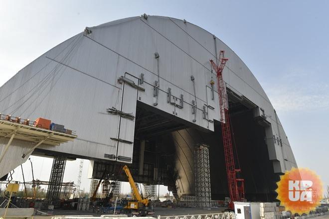 Наразрушенный энергоблок ЧАЭС установят арку