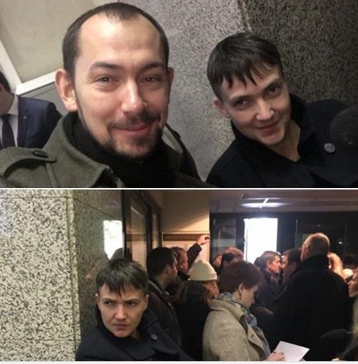 Савченко в помещении Верховного суда России.