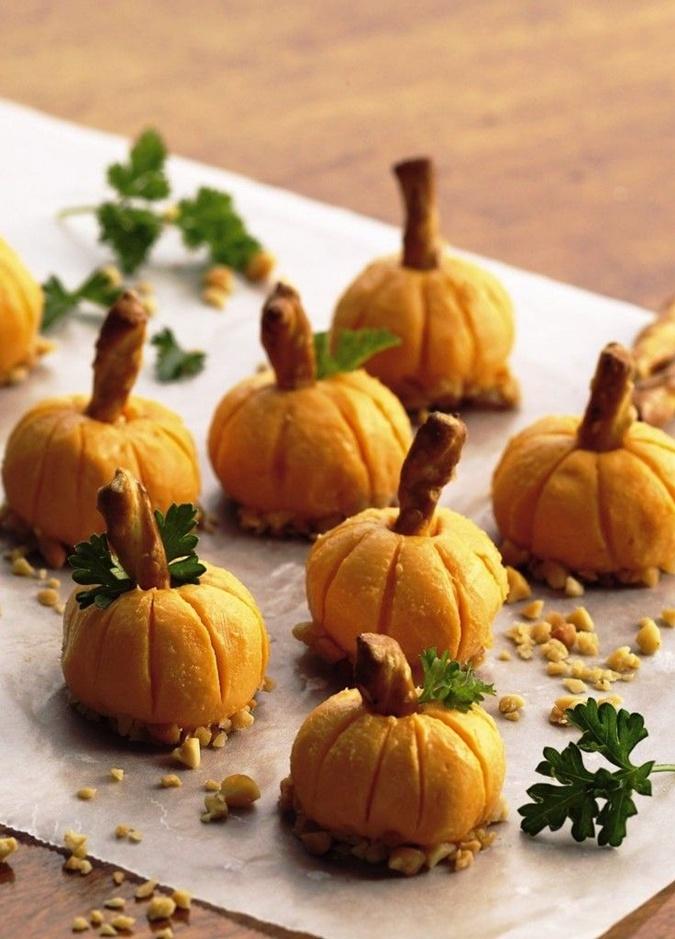 Закуска тыквы на хэллоуин