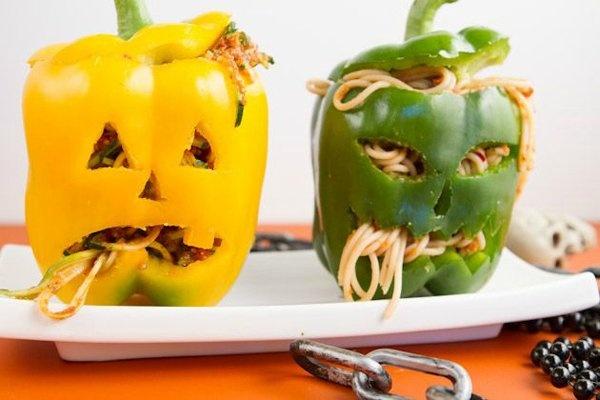 Фаршированные перцы на хэллоуин