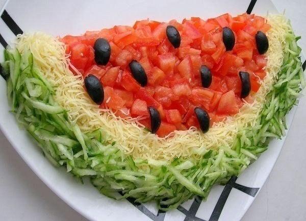 Салат арбузная долька рецепт