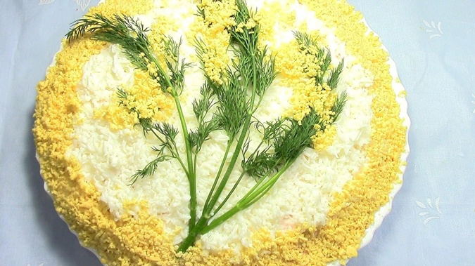 Салат мимоза с сельдью рецепт