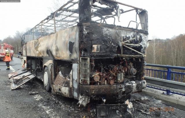 В Чехии дотла сгорел украинский автобус: опубликовано видео