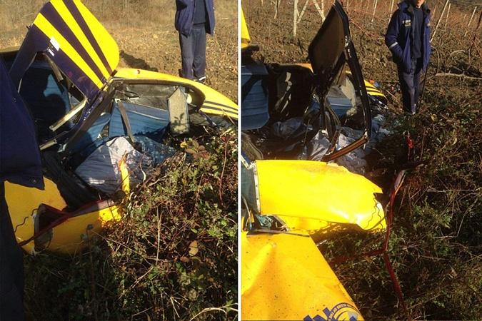 В Крыму разбился частный вертолет.