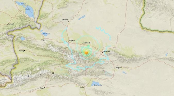 ВКитайской республике случилось мощное землетрясение