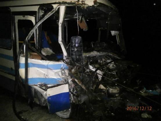 Смертельное ДТП: столкнулись маршрутный автобус и фургон