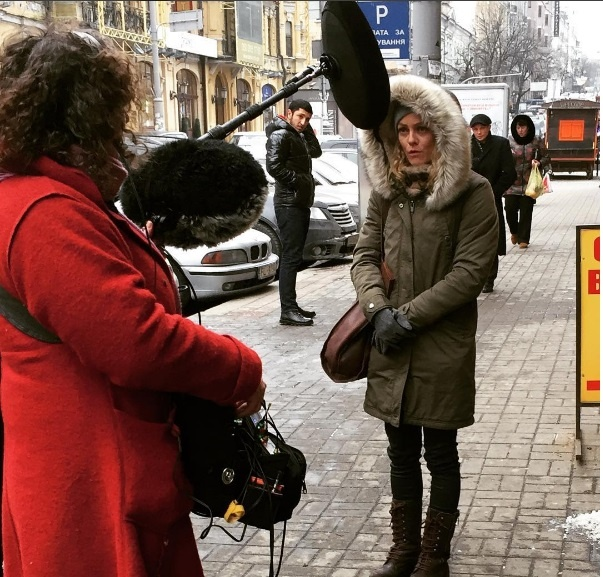 Накиевских дорогах увидели французскую звезду кинематографа Ванессу Паради