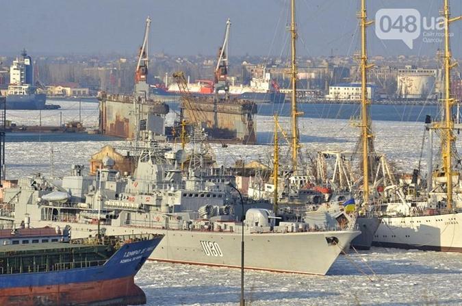 В Одессе замерз весь военный флот Украины - KP.UA: http://kp.ua/incidents/564204-v-odesse-zamerz-ves-voennyi-flot-ukrayny