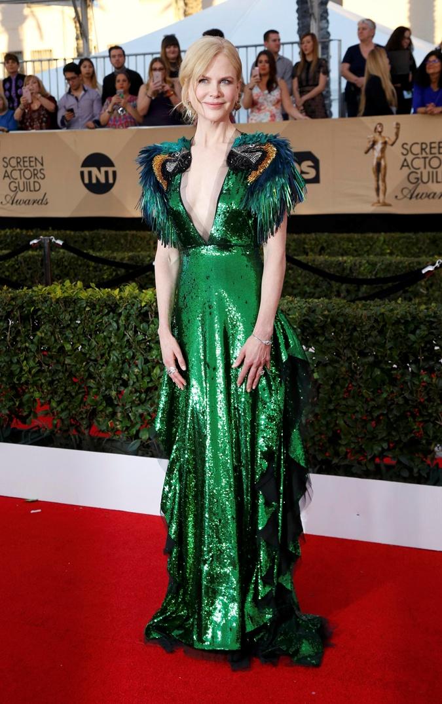 Николь Кидман в изумрудном платье от Gucci. Фото: REUTERS
