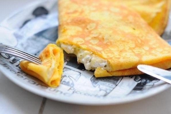 Блины с сыром. Фото: foodclub.ru