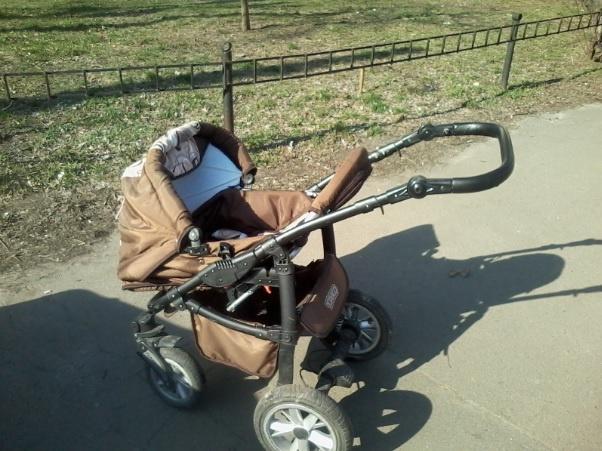 ВКиеве прохожие отыскали наулице коляску с 2-мя детьми
