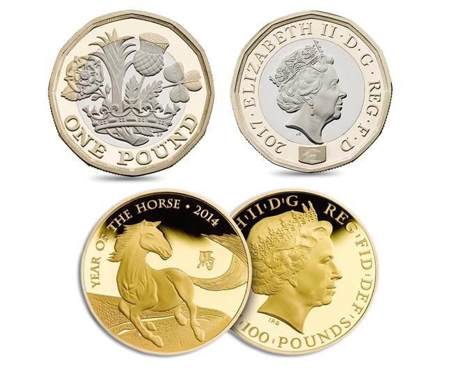 Англия начала замену монет номиналом 1 фунт