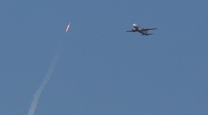 Ракету можно было увидеть из аэропорта Орландо.