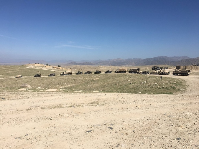 Район взрыва бомбы исследовали афганские вооруженные силы.