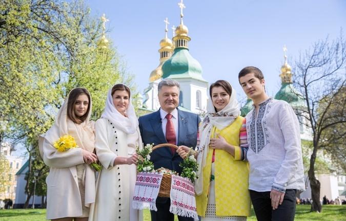 Президентская чета поздравила украинцев с Пасхой. Фото: пресс-служба президента