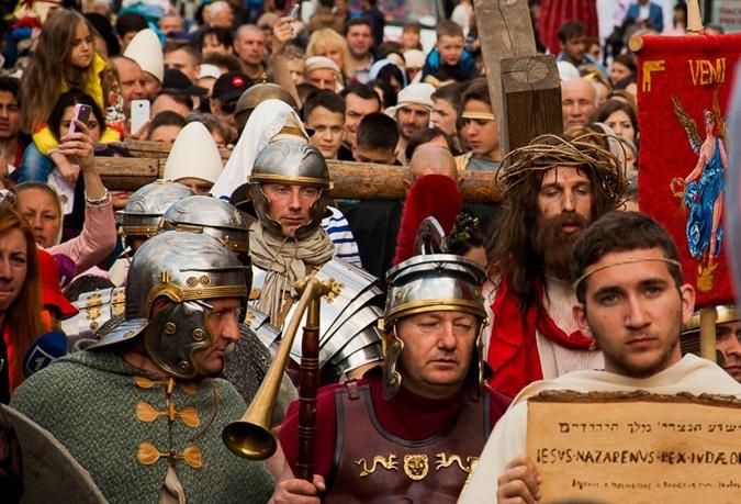 На Дерибасовской прошла пасхальная реконструкция. Фото: 1tv.od.ua