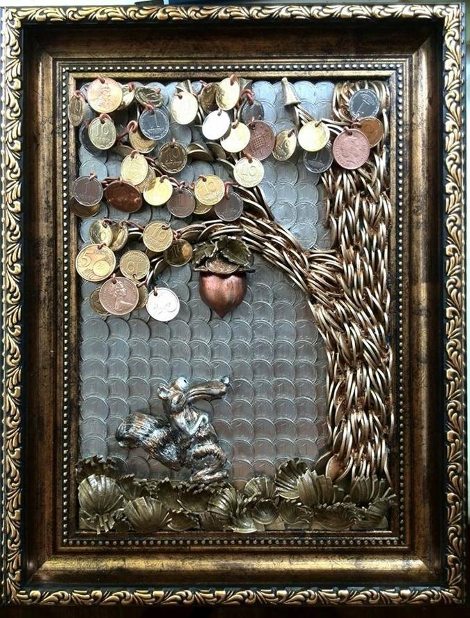 Картины из монет спасут ваш дом от бед фото 2