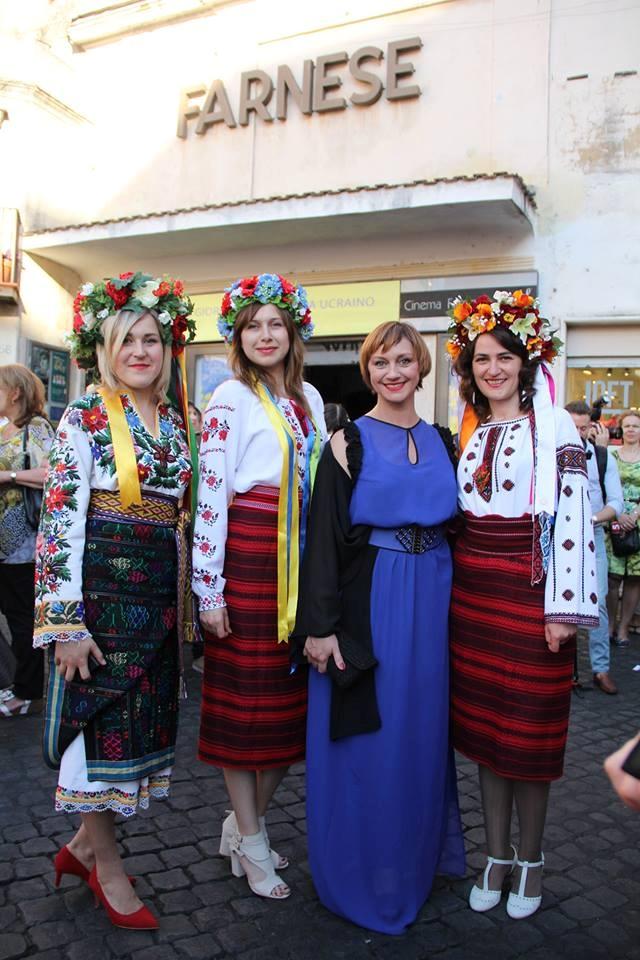 Римма Зюбіна та представниці української діаспори в Римі
