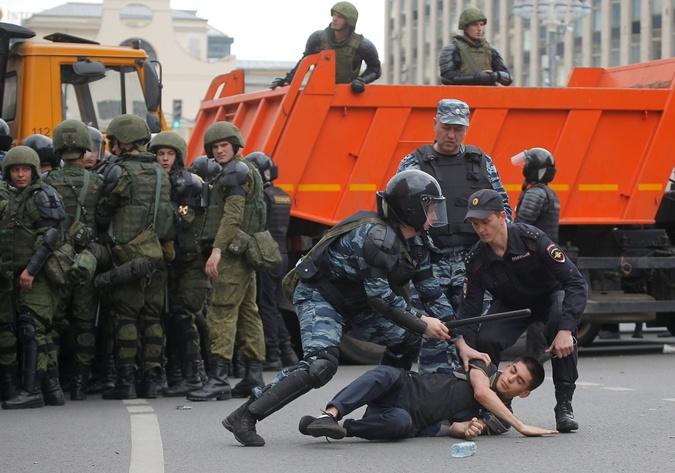 В столице России задержали Навального