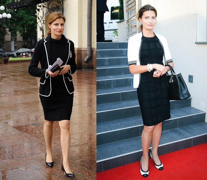 Марина Порошенко любит силуэт маленького черного платья. Фото: trendy-u.com