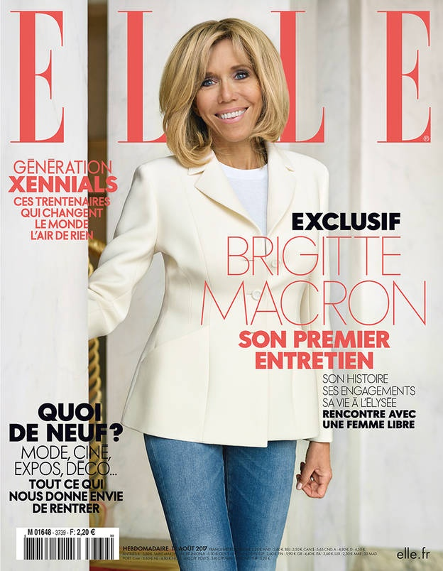 Брижит Макрон на обложке журнала ELLE