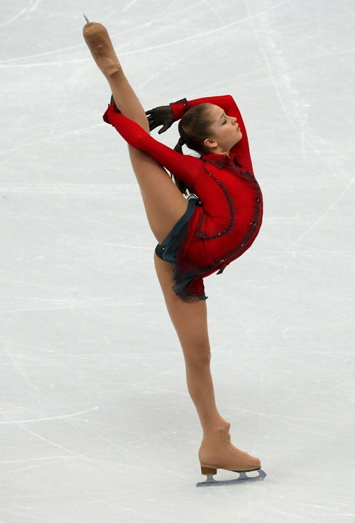 Липницкая на Олимпиаде в Сочи.