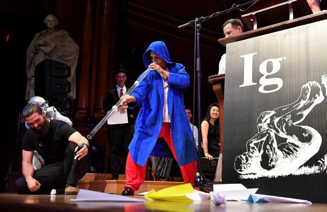 На премии продемонстрировали игру на духовом инструменте австралийских аборигенов.