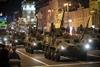 Репетиции военного парада ко дню Независимости Украины на Крещатике.