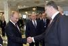 Рукопожатие Путина и Порошенко