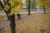 Осенний Донецк в минуты затишья