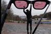 В Киеве появились трехметровые розовые очки