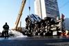 В Киеве опрокинулась цистерна с подсолнечным маслом