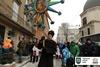 Во Львове установили трехметровый рождественский дидух