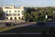 Через Луганск прошла колонна военной техники