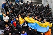 9 мая в Киеве: конфликты из-за  георгиевских лент , штурм офиса ОУН