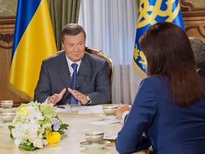 Президент дал интервью ведущим телеканалам.