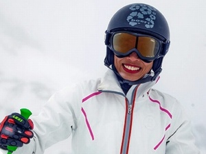 Ванесса Мэй с четырех лет стоит на лыжах, а к Играм в Сочи готовилась заранее. Фото: twitter.com