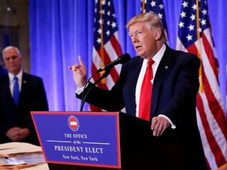Первая пресс-конференции избранного президента США Трампа